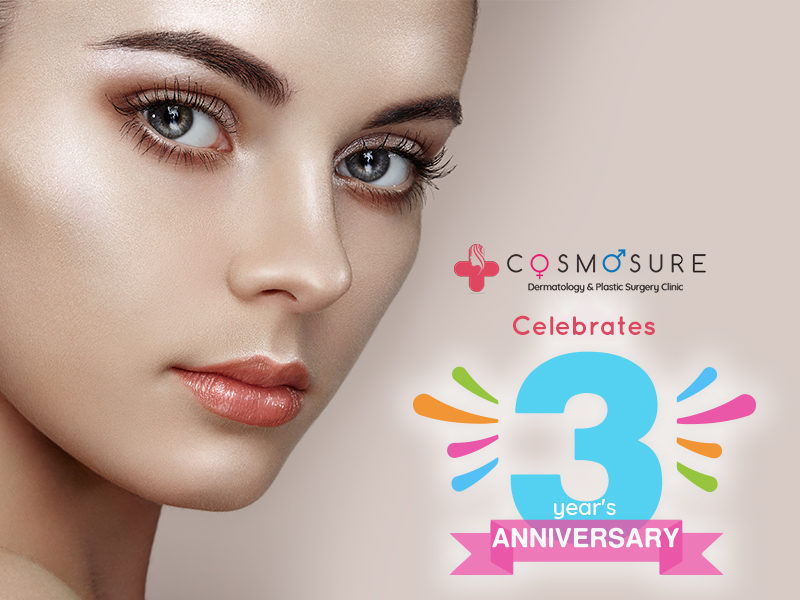 Cosmosure Cosmetic clinic celebrates 10 year anniversary in hyderabad, best skin doctor near me