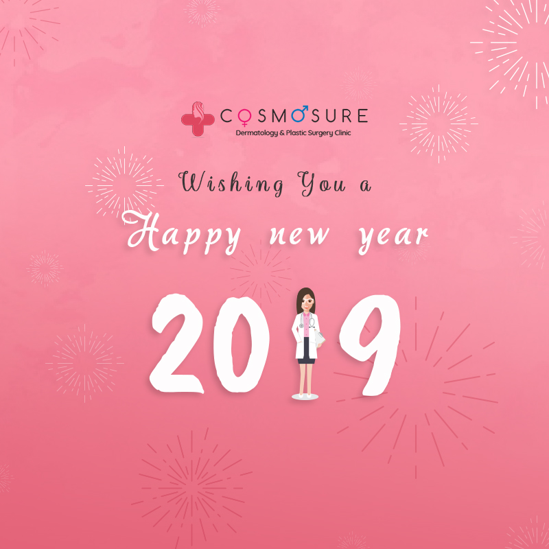 May Every Day Of This New Year Glow With Cheer And Love. CosmoSure wishes you a Very Happy New Year, 2019