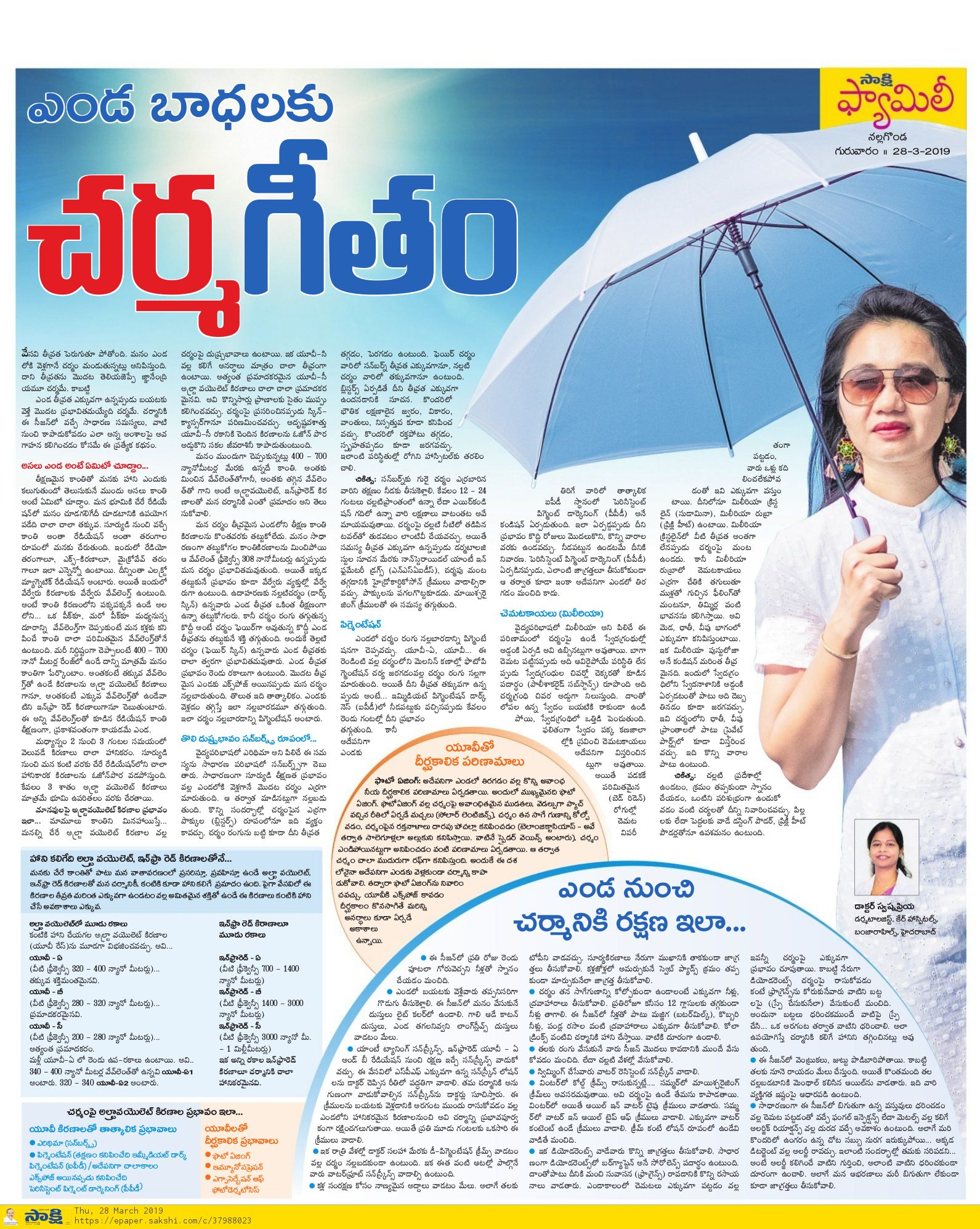 tips for skin care in summer by Dr Swapna priya, one of the best dermatologist in hyderabad
