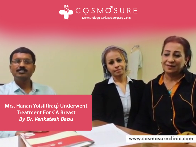 Best Breast Cancer Treatment by Dr Venkatesh babu, One of the best skin specialist in Hyderabad,