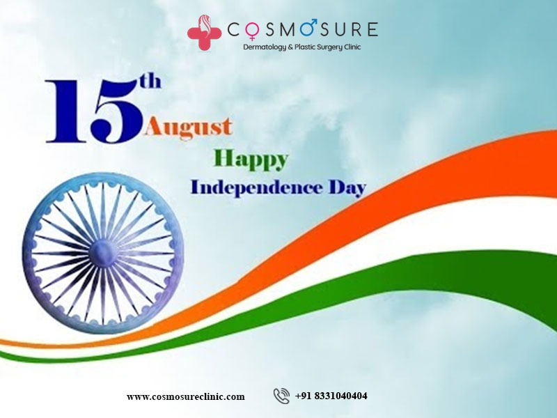 Independence Day wishes by Cosmosure Clinic, One for Best clinic for skin diseases in Hyderabad
