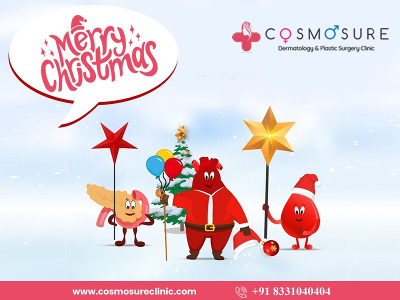 Happy Merry Christmas day wishes by Cosmosure Clinic, One of the Best Skin Care Centres in Hyderabad